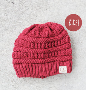 Kids CC Beanie: Red