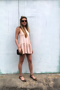 Blush Drop Waist Dress