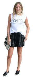 Blank NYC Leather Shorts