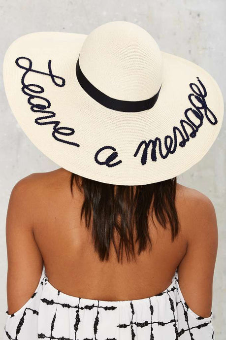 Floppy Hat: Leave a Message