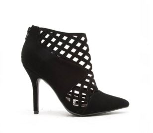 Black Cut Out Bootie