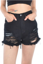 Black Denim Cut Offs