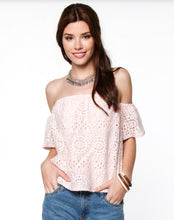 Blush and Lace Top