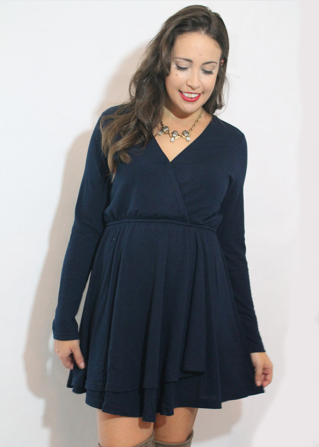 Navy Criss Cross Dress