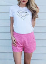Sweet Pink Scallop Shorts