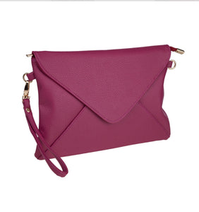 Plum Envelope Clutch