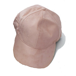 Blush Suede Ball Cap