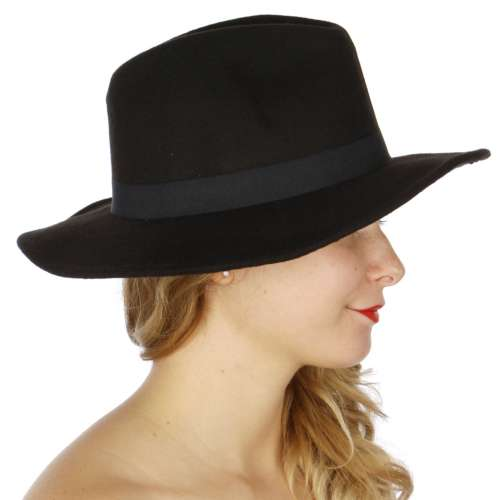 Black Autumn Panama Hat
