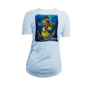 Anchor Eel Short Sleeve V-Neck Performance Tee