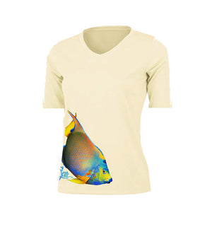 Angelfish (Side Wrap) Short Sleeve V-Neck Performance Tee