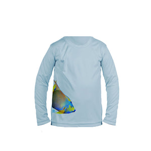 Angelfish (Side Wrap) Long Sleeve Toddler Performance Tee