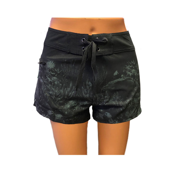 Women's Black Coral Board Shorts