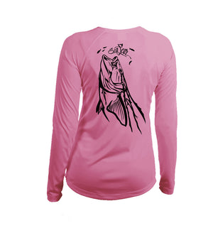 Cobia  Long Sleeve V-Neck Performance Tee