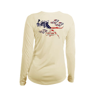 Diver US Long Sleeve V-Neck Performance Tee