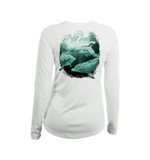 Dolphins Long Sleeve V-Neck Performance Tee