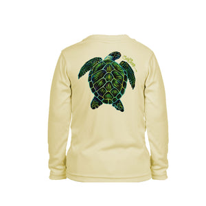 Electric Turtle Long Sleeve Toddler Performance Tee