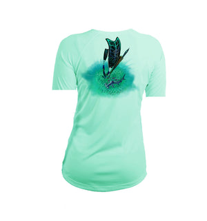 Free Diver Short Sleeve V-Neck Performance Tee