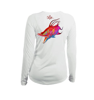 Glow Hog Long Sleeve V-Neck Performance Tee