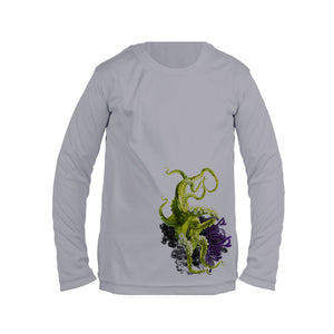 Green Octo Long Sleeve Toddler Performance Tee