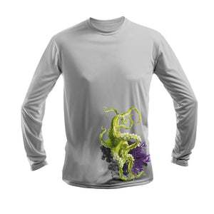 Green Octo Long Sleeve Performance Tee
