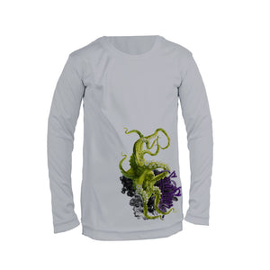 Green Octo Long Sleeve Youth Performance Tee