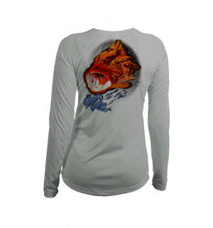 Grouper Long Sleeve V-Neck Performance Tee