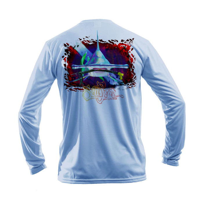 Hammerhead Dive Flag Long Sleeve Performance Tee