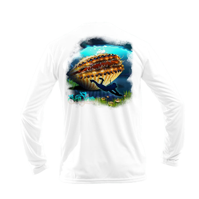 Hangry Scallop Long Sleeve Performance Tee