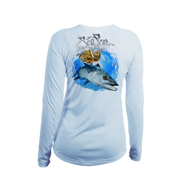 Kingfish Long Sleeve V-Neck Performance Tee