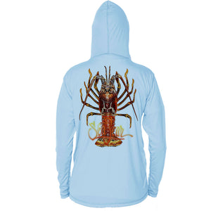 Large Lobster Long Sleeve Performance Hoody