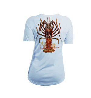 Large Lobster Short Sleeve V-Neck Performance Tee