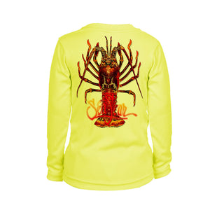 Large Lobster Long Sleeve Youth Performance Tee
