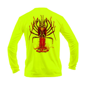 Large Lobster Long Sleeve Performance Tee