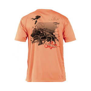 Lobster Coral Short Sleeve Performance Tee