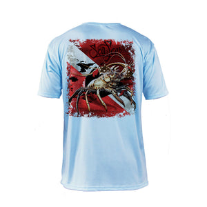 Lobster Dive Flag Short Sleeve Performance Tee