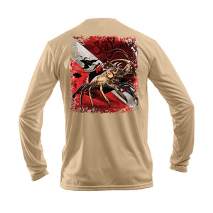 Lobster Dive Flag Long Sleeve Performance Tee