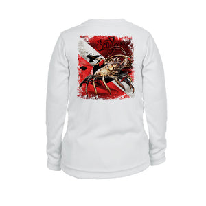 Lobster Dive Flag Long Sleeve Youth Performance Tee