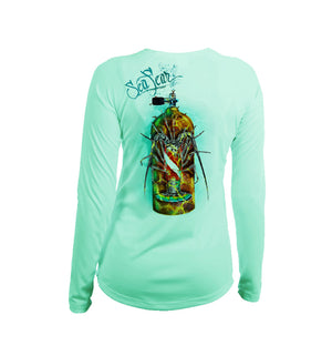 Lobster Tank  Long Sleeve V-Neck Performance Tee