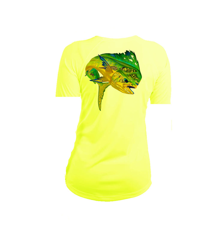 Mahi Sea Fear Short Sleeve V-Neck Performance Tee