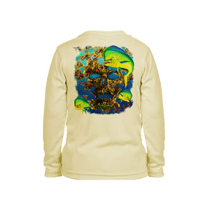 Mahi Skull Long Sleeve Toddler Performance Tee