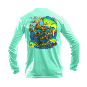 Mahi Skull Long Sleeve Performance Tee