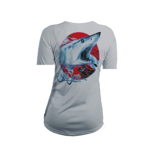 Mako Flag  Short Sleeve V-Neck Performance Tee