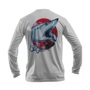Mako Dive Flag Long Sleeve Performance Tee
