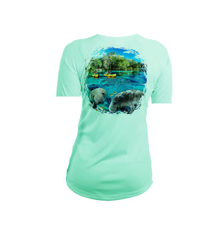 Manatee Kayak Short Sleeve V-Neck Performance Tee