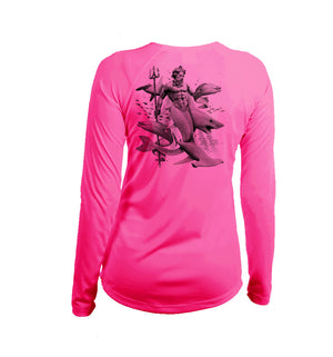 Neptune Long Sleeve V-Neck Performance Tee
