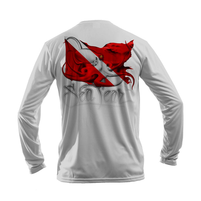 Octo Dive Flag Long Sleeve Performance Tee