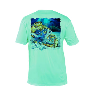 Octo Dive Helmet Short Sleeve Performance Tee