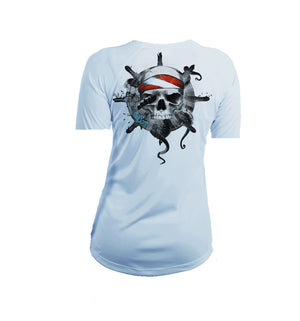 Octo Skull  Short Sleeve V-Neck Performance Tee