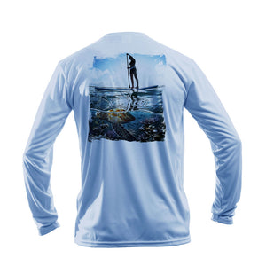 Paddleboarder (Turtle) Long Sleeve Performance Tee