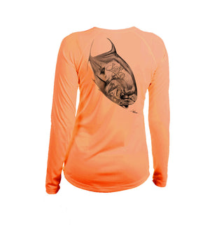 Permit Long Sleeve V-Neck Performance Tee